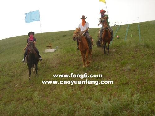 7月2日坝上海留图全武装列队骑马照片