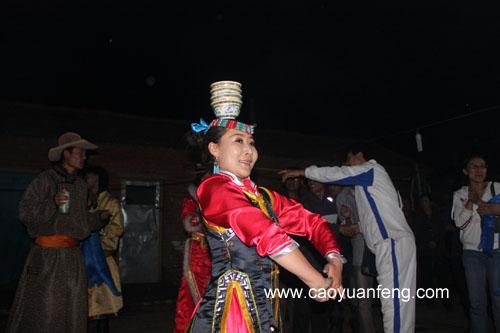 6月11日晚蒙古歌舞演出现场