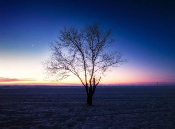 丰宁坝上闪电湖.草原天路冬季摄影
