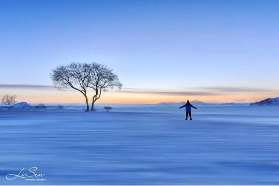 坝上雪域星空冬日摄影