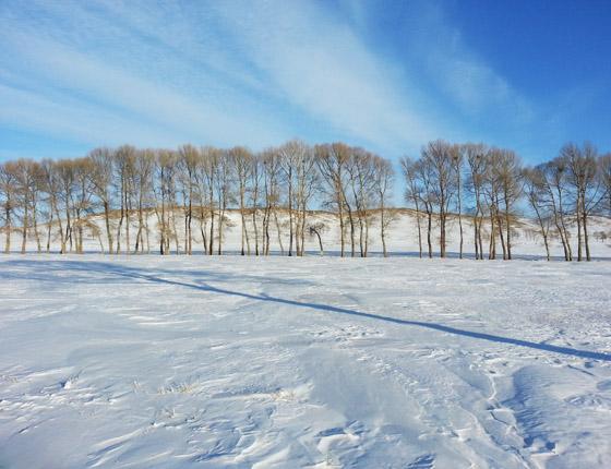 坝上冬季航拍美景