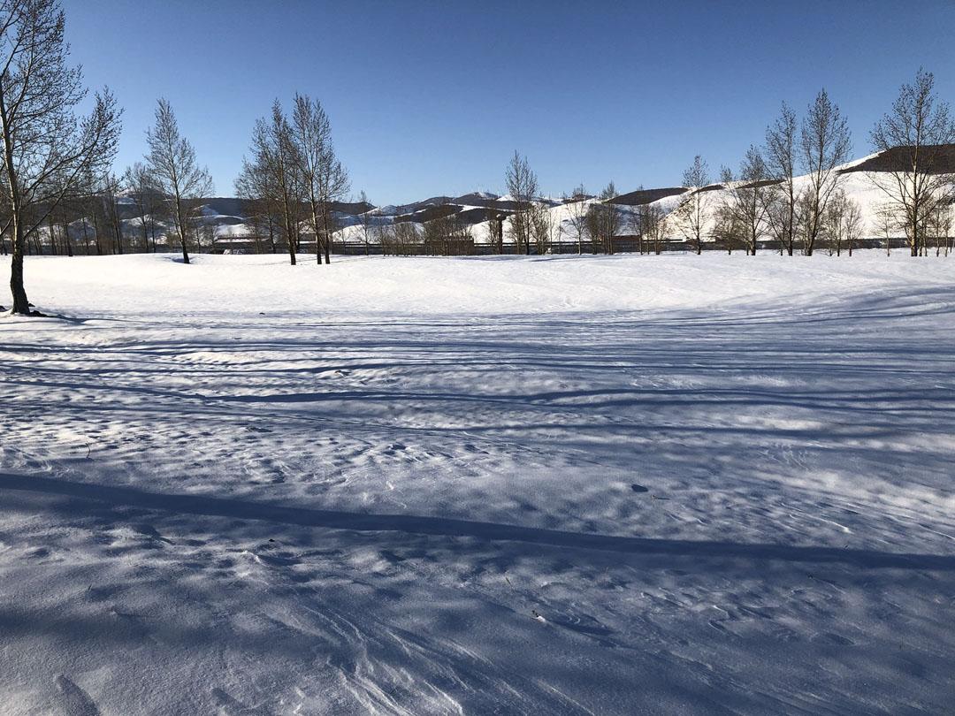 坝上冬季雪地扎营 我们的老顾客每年都体验