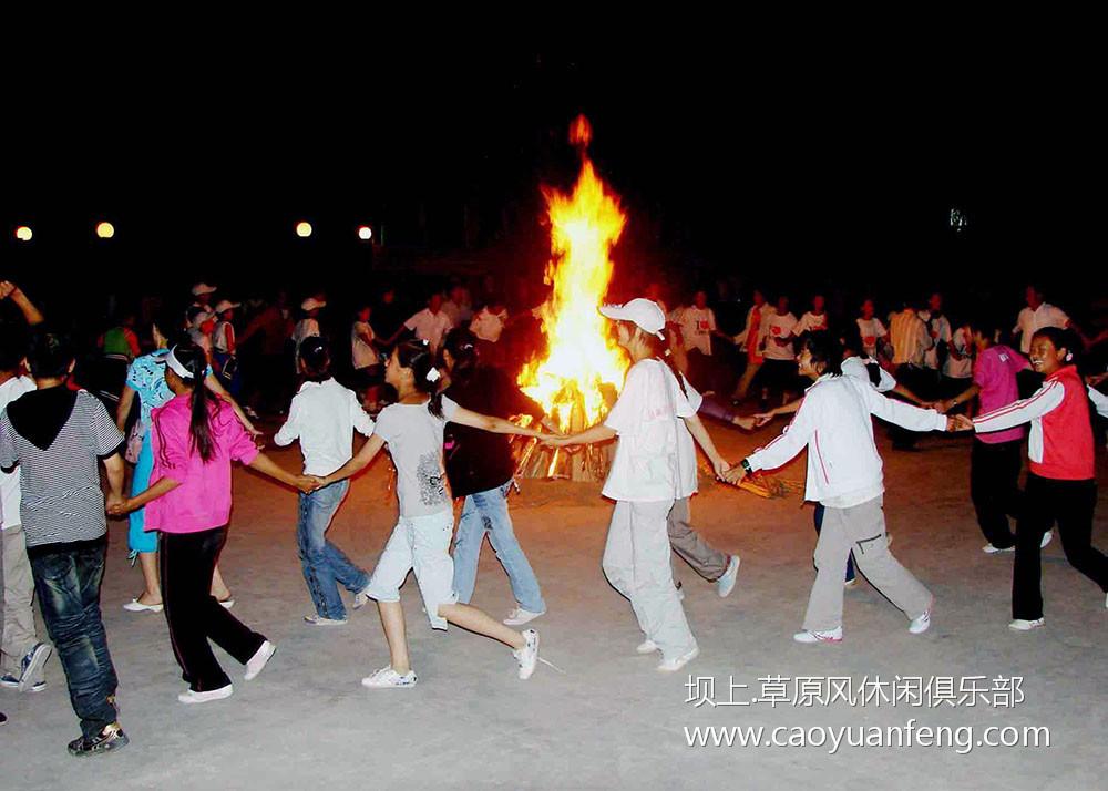 草原篝火晚会,蒙古族歌舞表演