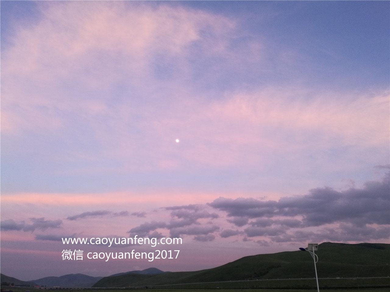 草原夕阳落日